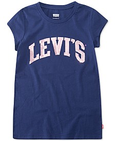 Levi's® Big Girls Cotton Sequin-Logo T-Shirt