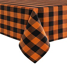 "Elrene Farmhouse Living Fall Buffalo Check Tablecloth, 52""x52"""
