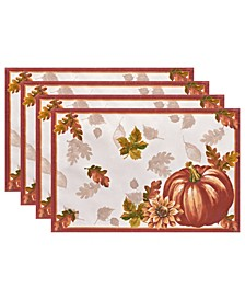 Swaying Leaves Bordered Fall Placemat, Set of 4