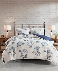 Zennia Full/Queen 3-Pc. Printed Seersucker Duvet Cover Set