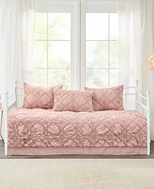 Theresa Daybed 5-Pc. Ruched Rosette Reversible Daybed Cover Set