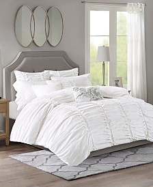 Madison Park Signature Gardenia Oversized Cotton 9-Pc. Comforter Sets