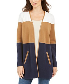 Milano Cotton Colorblocked Cardigan, Created for Macy's