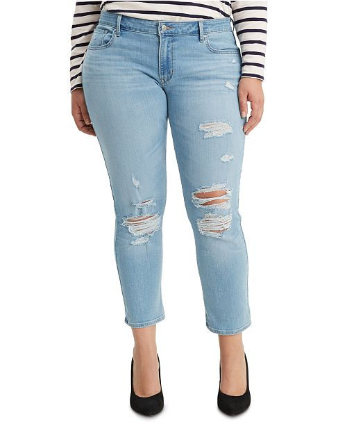 Levi's Trendy Plus Size  711 Skinny Ankle Jeans