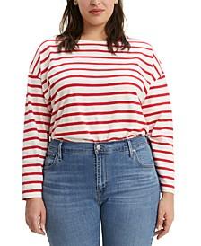 Trendy Plus Size  Cora Slouchy Tie-Back Sweater