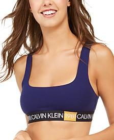 Calvin Klein Women's 1981 Bold Logo Unlined Bralette QF5577