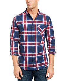 Men's Large Plaid Button-Down Shirt