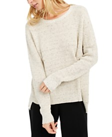 Eileen Fisher Marled Organic Cotton High-Low Sweater