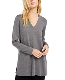 Eileen Fisher V-Neck Merino Wool Sweater