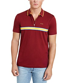 Men's Chest Stripe Polo Shirt, Created for Macy's