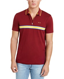 A|X Armani Exchange Men's Chest Stripe Polo Shirt, Created for Macy's