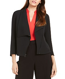Anne Klein Asymmetrical Zippered Blazer