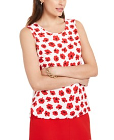 Anne Klein Floral Printed Sleeveless Top