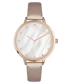 INC Women's Rose-Gold Tone Mother Of Pearl Bracelet Watch 37mm, Created for Macy's