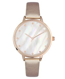 I.N.C. Women's Rose-Gold Tone Mother Of Pearl Bracelet Watch 37mm, Created for Macy's