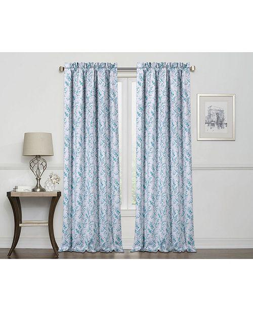 """Regal Home Laila Print 100% Blackout Grommet Curtain, 84"""" x 50"""""""