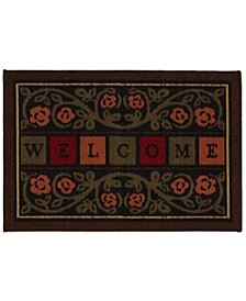 """Ottohome Rubber Back Welcome Doormat, 20"""" x 30"""""""