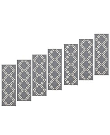 "Ottohome Patterned Non-Slip Pet-Friendly Stair Treads Set of 7, 8.5"" x 26.6"""