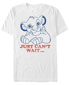 Disney Men's Lion King Simba Can't Wait Line Art Short Sleeve T-Shirt