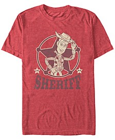 Disney Pixar Men's Woody The Sheriff Short Sleeve T-Shirt