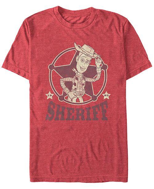 Toy Story Disney Pixar Men's Woody The Sheriff Short Sleeve T-Shirt