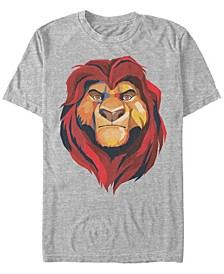 Disney Men's Mufasa Geometrics Short Sleeve T-Shirt