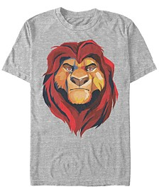 Disney Men's Lion King Mufasa Geometrics Short Sleeve T-Shirt