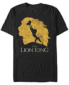 Disney Men's The Lion King Simba Evolution Silhouette Short Sleeve T-Shirt