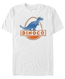 Disney Pixar Men's Cars Iconic DINOCO Gas Station Logo Short Sleeve T-Shirt