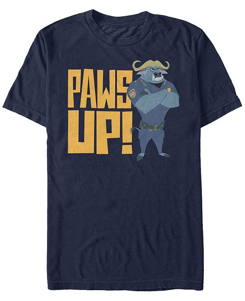 Zootopia Disney Pixar Men's Chef Bogo Paws Up Short Sleeve T-Shirt