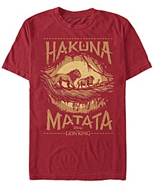 Disney Men's The Live Action Hakuna Matata Short Sleeve T-Shirt