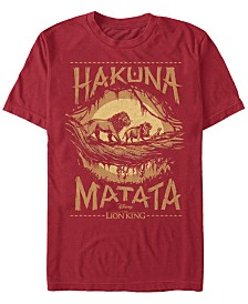 Disney Men's The Lion King Live Action Hakuna Matata Short Sleeve T-Shirt