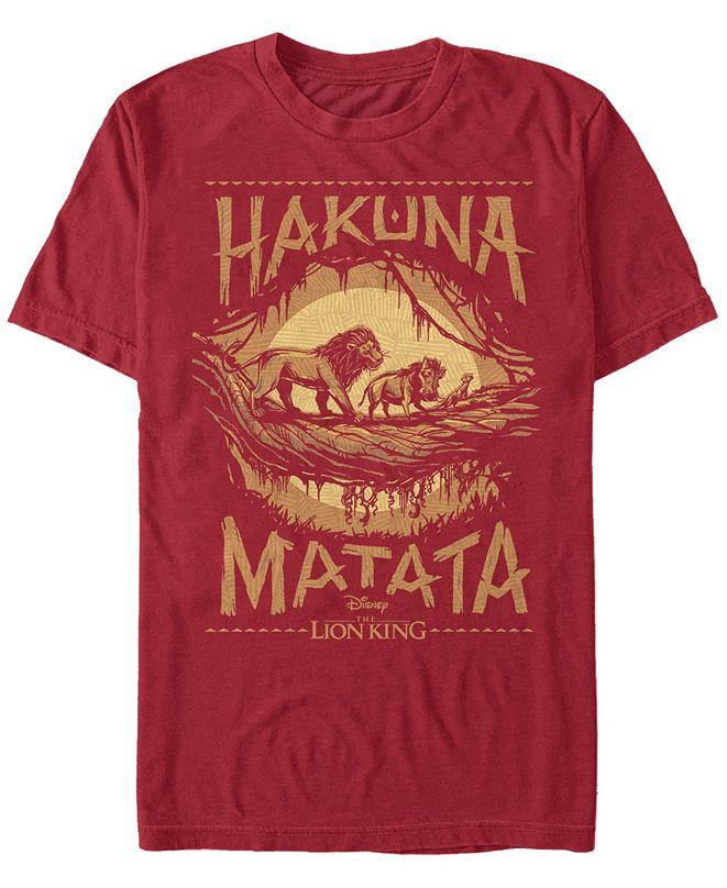 Lion King Disney Men's The Live Action Hakuna Matata Short Sleeve T-Shirt