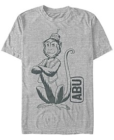 Disney Men's Live Action Abu Smirking Pose Portrait Short Sleeve T-Shirt