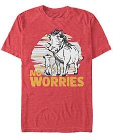 Disney Men's The Lion King Live Action Timon Pumbaa No Worries Short Sleeve T-Shirt