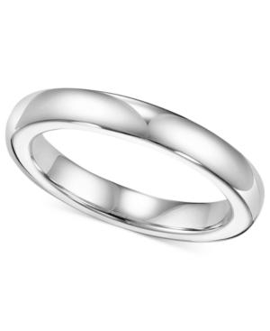 Triton White Tungsten Ring, 3mm Wedding Band
