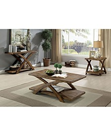 Wooden Table Set with X Shaped Table Base
