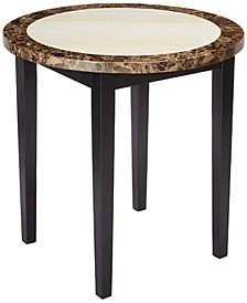 Wooden Round Counter Height Table with Marble Top