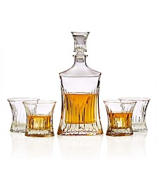 Bezrat 5-Piece Whiskey Decanter Set