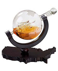 Whiskey 850 ml Decanter on USA Shaped Base