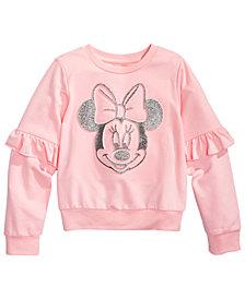 Disney Little Girls Minnie Mouse Ruffled Sweatshirt