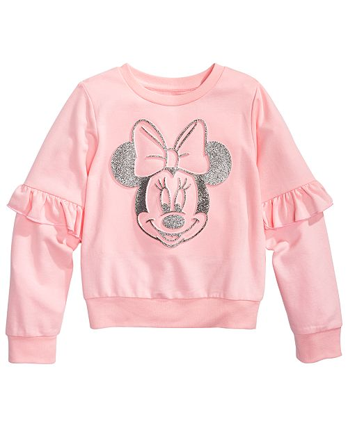 Disney Toddler Girls Minnie Mouse Ruffled Sweatshirt
