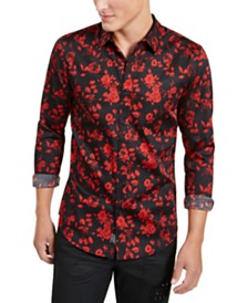 GUESS Men's Gothic Floral Shirt