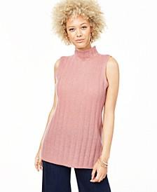 Sleeveless Mock-Neck Pure Cashmere Sweater, Regular & Petite Sizes, Created for Macy's