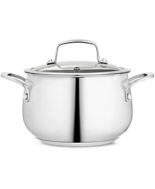 Polished Stainless Steel 3-Qt. Covered Soup Pot, Created for Macy's