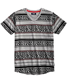Big Boys Harding Geo Stripe V-Neck T-Shirt