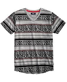 Univibe Big Boys Harding Geo Stripe V-Neck T-Shirt