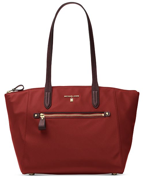 Michael Kors Kelsey Medium Top-Zip Nylon Tote