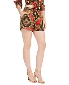 Lelyn Printed Satin Shorts