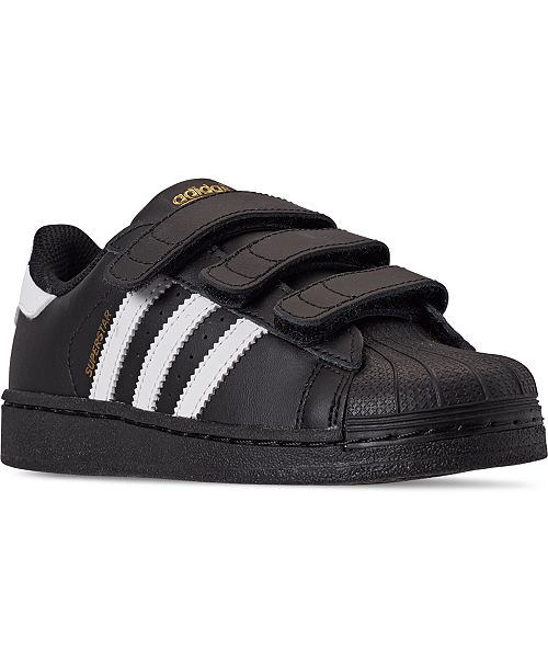 adidas Little Boys Originals Superstar Stay-Put Closure Casual Sneakers from Finish Line